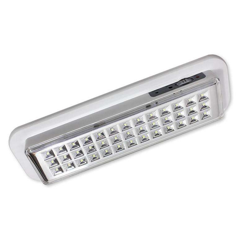 Luz de emergencia Led EMERLUX F320 permanente superficie techo, Blanco frío
